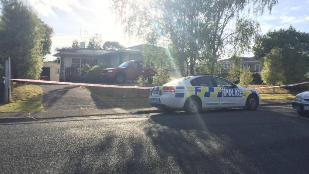 Police tape surrounds a property at the centre of a shooting on Clark Rd in Whangarei on Wednesday night.