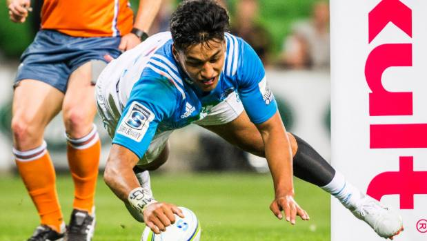 Rieko Ioane scores a hat-trick as Blues thump Melbourne Rebels in Super Rugby opener