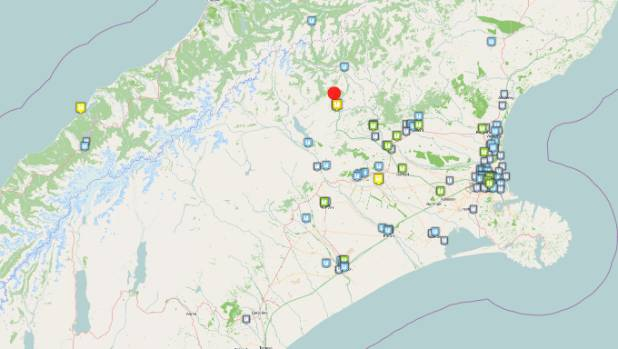 A magnitude 4.9 earthquake at Arthur's Pass at 2.35am was followed by a  series of