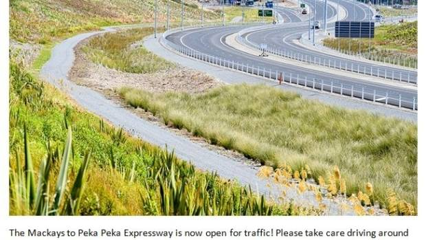 Traffic finally flows on to $630m Kapiti Expressway as road quietly opens overnight