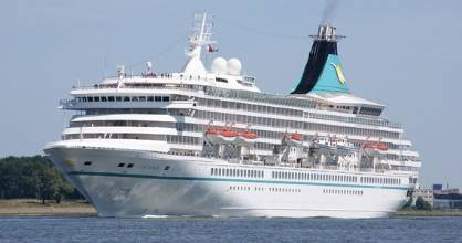 The 1200 passenger Artania will arrive on Sunday flooding the town with German-speaking tourists.