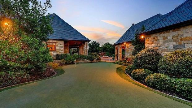 It's not everyday you come across a home with its own putting green.