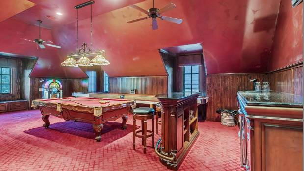 This is most definitely a games room fit for a pop star.