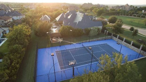 From an eight-car garage to a tennis court, this property has pretty much everything.