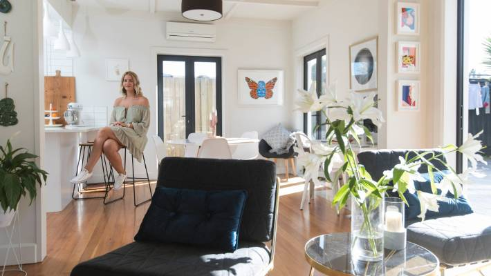 Lifestyle Blogger Simone Andersonu0027s Flat Is Predominantly Decked Out With  Items From Kmart, The Warehouse