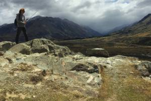 As part of the tour you can pose with a replica sword on Mt Sunday, also known as Edoras from the Lord of the Rings movies.