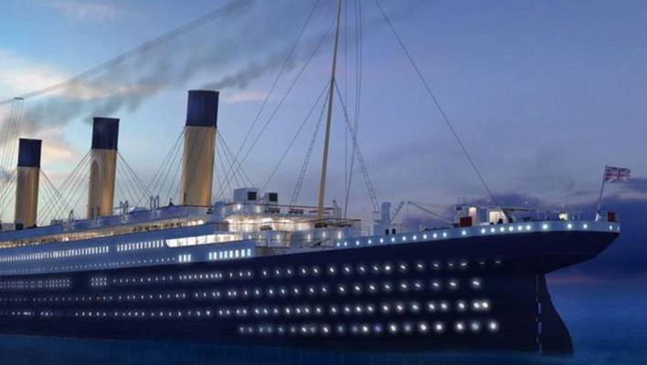 Life Sized Replica Of Truly Unsinkable Titanic Taking