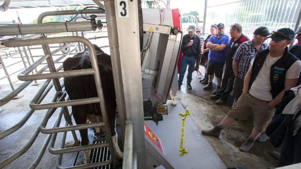 A robotic milking system for dairy farms.
