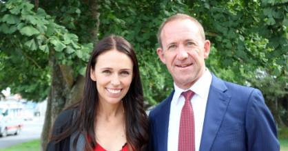 Jacinda Ardern was joined by Labour leader Andrew Little for her final day of campaigning for the Mt Albert by-election.