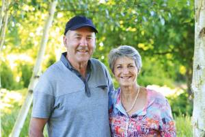 Pat and Denise Donnelly have created a beautiful rural garden featuring crisply cut hedges, topiary and sweeping lawns.