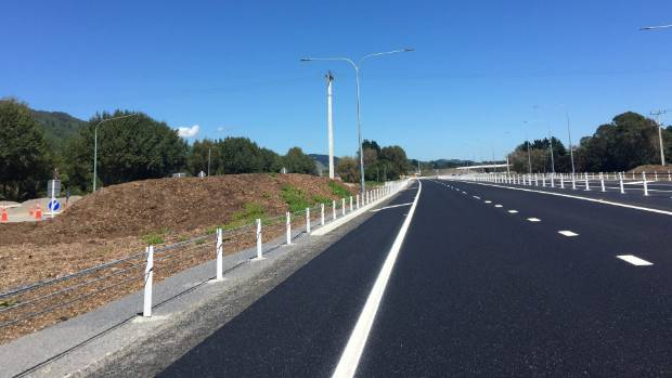 Heading south on the newly opened first section of the Kapiti expressway, near Peka Peka.