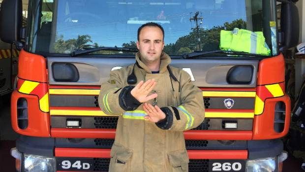 Nick Linton, a senior fire fighter at Waitemata Fire Service has created a Hearing Impaired Emergency Services Day on ...