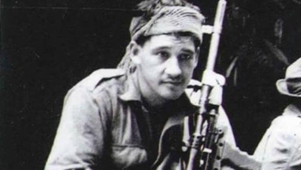 Edwards as a young man serving Commonwealth forces during the Malayan Emergency.