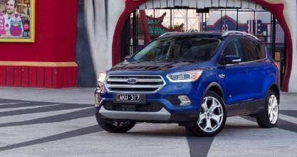 The new Ford Escape poses at the entrance to Melbourne's historic Luna Park.