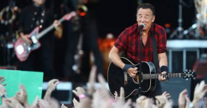 Bruce Springsteen and the E Street Band played to a large crowd at Auckland's Mt Smart stadium.