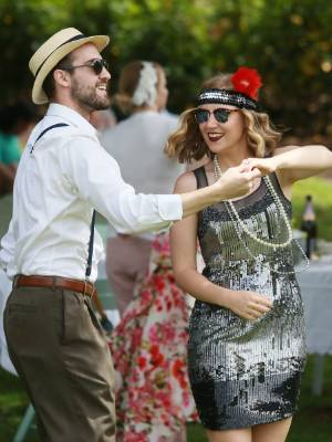 Kevin and Isabel McBrayer were the life of the Katherine Mansfield Garden Party on Sunday, the final day of the Hamilton ...