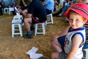 Dairy NZ  runs a once a day milking seminar for southern North Island farmers.  Billy Finnigan, 3, attended the seminar, ...