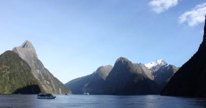 There'd been a deluge a few days earlier at Milford but it was all but cloudless for our overnight cruise.
