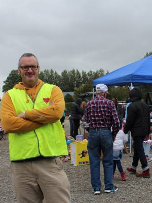 Winton Area Promotions chairman Bryce Williams checks out the car boot sales at the 12th annual Winton wide garage sales ...