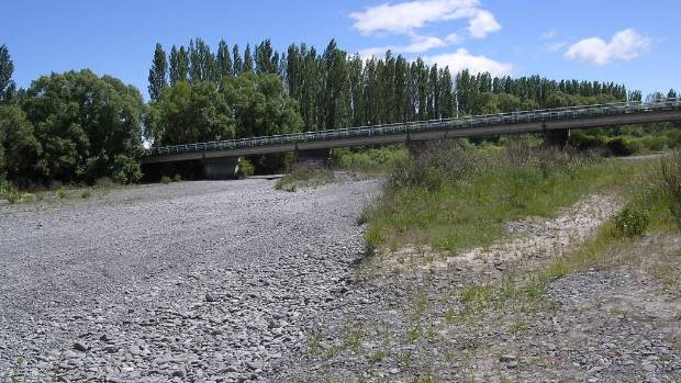"The ephemeral North Ashburton river is dry for long periods, but would be graded as having ""good"" swimming quality under ..."