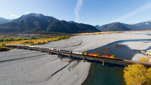 The TranzAlpine is regarded as one of the most scenic rail journeys in the world.