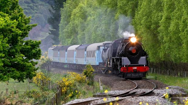 A steam train travels between Picton and Christchurch. (File photo)