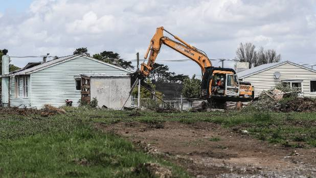 Old state houses in Tamaki are being demolished and replaced by new homes.