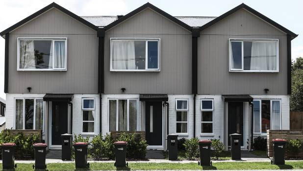 The new, space-saving state houses being built by the Tamaki Regeneration Company, replacing old state houses that are ...