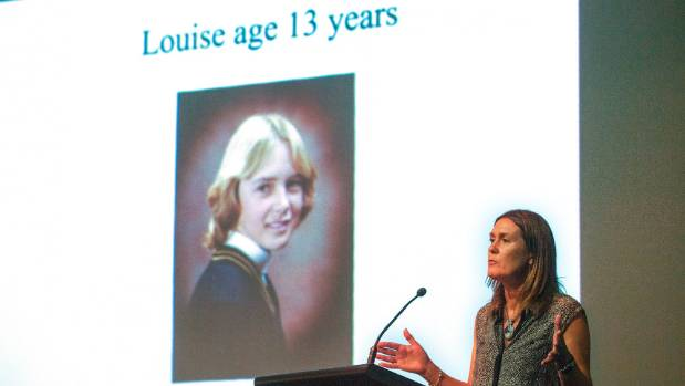 Advocate against sexual violence Louise Nicholas shares her story in Palmerston North as part of a seminar promoting ...