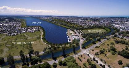 The East Lake Trust have released an indicative design for a proposed flat water facility in Christchurch's red zone.