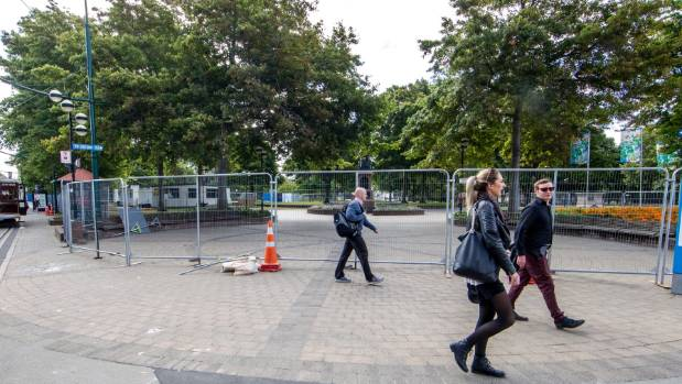 Christchurch's Victoria Square will be upgraded over the next year.