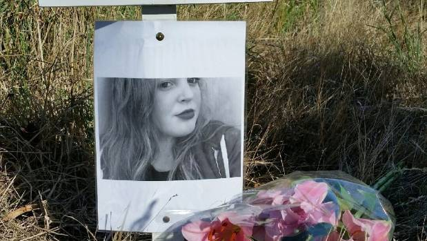A roadside memorial for Lara Glover, 16, who died in a car crash near Blenheim in February. (File photo)