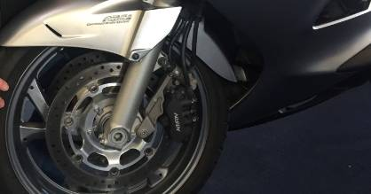 Allan Kirk, of New Zealand Motorcycle Consultants, says motorcycles should have ABS brakes installed, such as on this ...