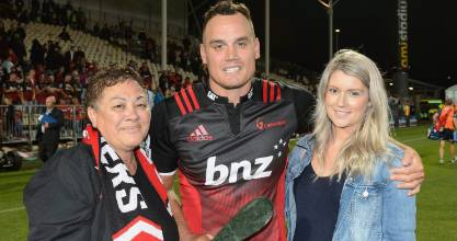 Israel Dagg celebrated his 100th Super Rugby game with a standout performance for the Crusaders.