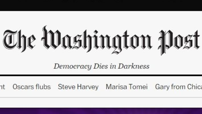 The Washington Post's new slogan turns out to be an old