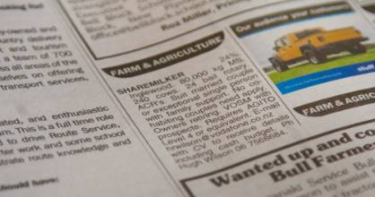 "An advertisement for a sharemilker in Taranaki stated that ""No co-habiting couples need apply."""