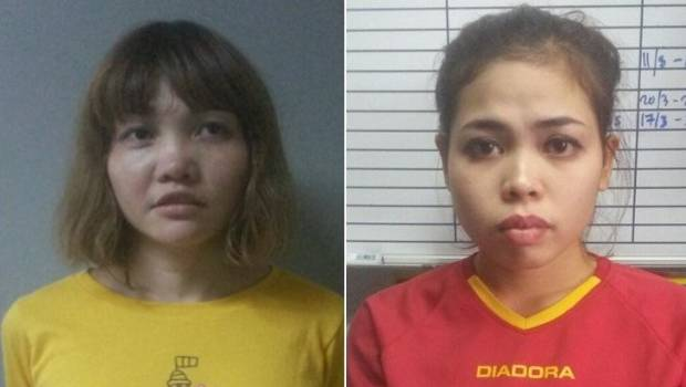 Doan Thi Huong of Vietnam left and Siti Aisyah of Indonesia could face the death penalty of convicted of the murder of Kim Jong-Nam