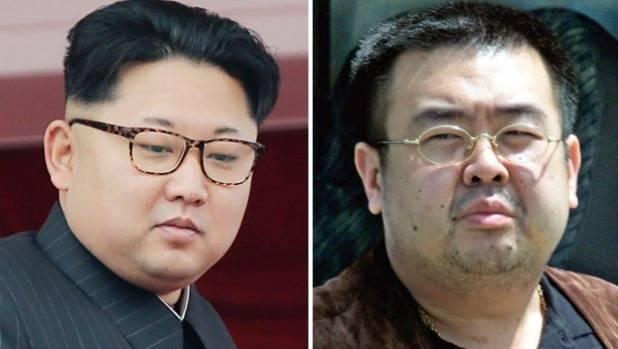 North Korean leader Kim Jong Un (left) and estranged older half-brother Kim Jong Nam, who was murdered at Kuala Lumpur ...