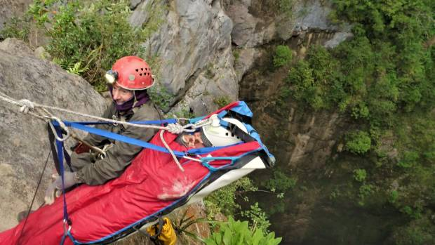 Brewer was involved in the rescue of a 25-year-old female climber who was injured in the entrance to the cave system.