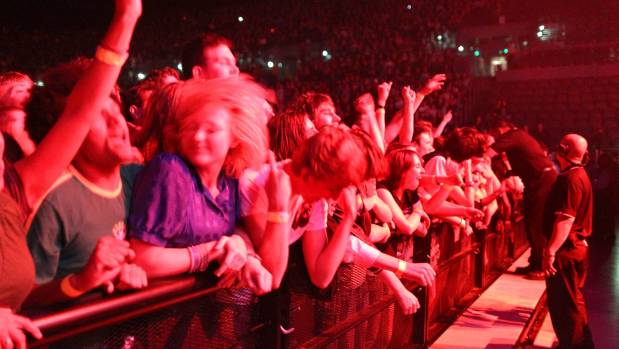 An enthusiastic crowd rocks to The Pixies performing at Vector Arena (now the Spark Arena) in Auckland. Wellington is in ...