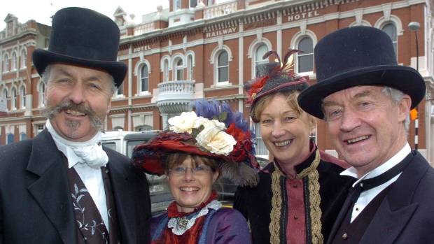 Oamaru real estate agent Alan McLay (right), seen here with friends in 2009, says there are opportunities in his town ...
