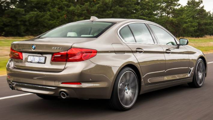 new bmw 5-series powers to the front in premium sedan race   stuff.co.nz