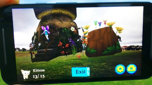 The app uses technology to fill parks with creatures including fairies, kittens, dinosaurs, and aliens, and get kids ...
