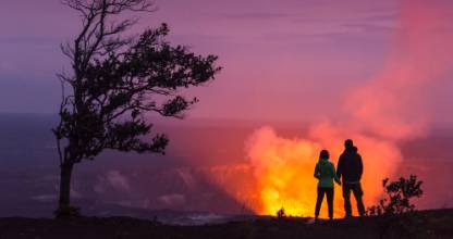 There's quite a lot of lava in Hawaii, but there's no need to run.