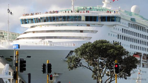 "A ""mad'' number of people visited Ports of Auckland on cruise ships last month,  port spokesman Matt Ball said."