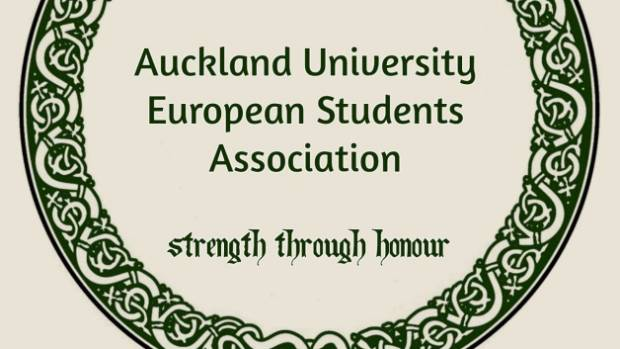 The Auckland University European Students Association displays Celtic imagery and slogans reminiscent of Nazi Germany on ...