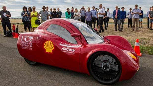 A group of Canterbury University students entered their eco-car into the Shell Eco-Marathon competition in Singapore ...