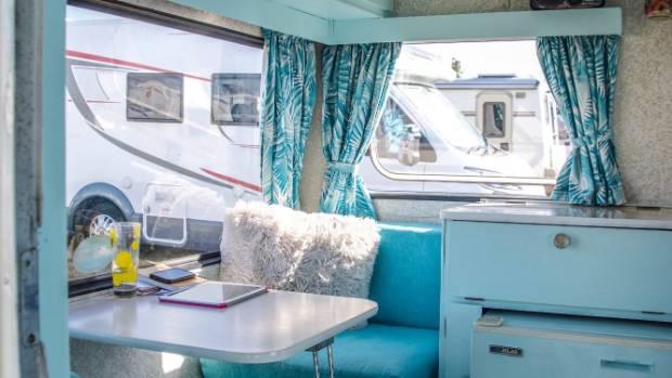 Dora's interior resplendent in Morning Glory blue.