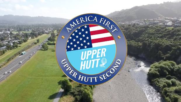 Upper Hutt is a tremendous city, the video says to Donald Trump.