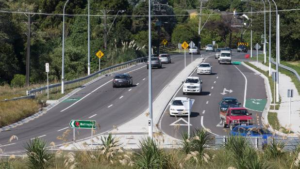 The Otaihanga roundabout, north of Paraparaumu, which is part of the old SH1 that will be renamed.